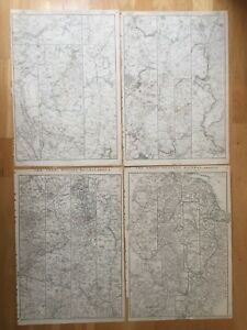 1863 Antique Set of 4 maps - The Great Western Railway -  by Edward Weller
