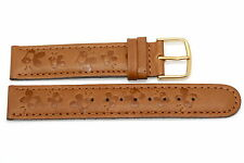 18mm Disney Brown Winnie The Pooh Embossed Leather Watch Band Strap