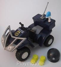 Playmobil Police pull back & go quad bike/beach patrol buggy NEW