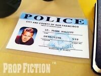 Bullitt - SFPD Police Detective Warrant Prop / Cosplay ID Card