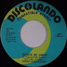 DIEGO VERDAGUER: SIente Mi Amor DISCOLANDO Latin 45 NM- Stock