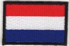 Aufnäher Bügelbild Iron on Patches Flagge Fahne Holland Netherland klein (a3u9)