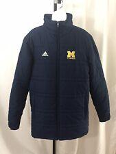 Adidas Michigan State Tennis Jacket Size Small Navy Blue Puffer