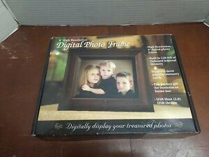 "8"" ADS Digital Photo Frame, Music Player, Movie Player - Wood Colored *NIB"