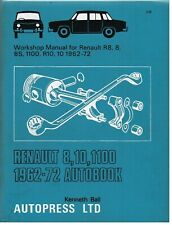 New ListingRenault 8 & Renault 10 Saloon (1962-71) Owners Workshop Manual * Hardback *
