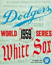 1959 World Series Dodgers' Program Poster - 8x10 Color Photo