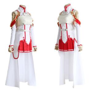 Sword Art Online Asuna Yuuki Uniform Top Dress Battle Full Set Cosplay Costume