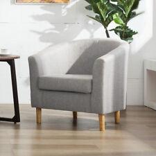Modern Grey Fabric Tub Bucket Chair Armchair Home Office Reception Sofa Lounge