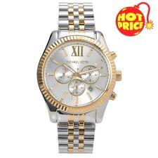 Brand New Michael Kors MK8344 Men's Lexington Two-Tone Analog Silver Dial Watch
