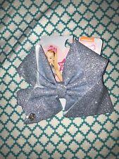 Large Jojo Siwa Hair Bow Pale Pastel Baby Blue Super Fine Glitter