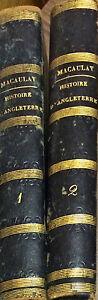 HISTOIRE D'ANGLETERRE - T.B. MACAULAY - ED. PERROTIN, 1853 - 2 VOLL.