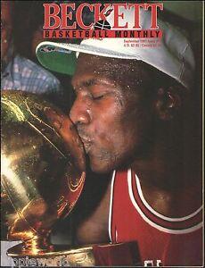 Michael Jordan 1991 Beckett NBA Basketball Card Price Guide 64 page magazine