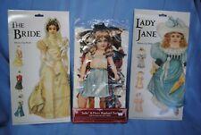 Vintage Mamelok Press The Bride & Lady Jane & Shackman Julie Paper Dolls