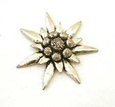 Edelweiss L Pin Badge Tie, Hat or Lapel Pewter Brooch Gift Present 114