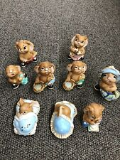 Pendelfin Rabbit Figurines Lot 9 Pieces~ Excellent Condition- No Original Box.