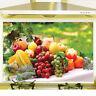 Aluminum Foil Wall Stickers Tiled Kitchen Fruit Plant Decoration Oil Proof
