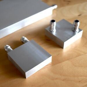 40*40 and 80*80mm pure Aluminum Water Block radiator water cooling applications