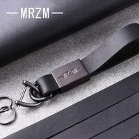 Genuine Leather Metal Keychain Key Ring Keyring Fob Hand-Made BMW AUDI VW B01-2