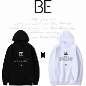Kpop BTS Bangtan new album BE cotton hoodie Pullover Plus velvet Sweatshirt