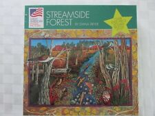 "NEW 1997 ""Streamside Forest"" by Diana Bryer 1000 Piece Jigsaw Puzzle"