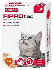 Beaphar FIPROtec Flea Spot On Small Medium Large XL Dog or Cat 1 4 6 Treatment