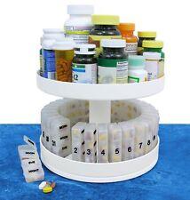 North American Health & Wellness Revolving Medicine Center Pill Organizer, White