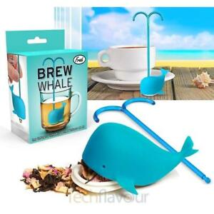 New Fred Blue Whale Tea Leaf Infuser -Silicone Eco Strainer -Herbal Spice S95