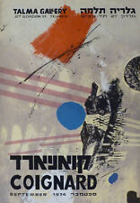 James COIGNARD (1925-2008) Affiche d'art en lithographie 1974 Abstrait Abstract