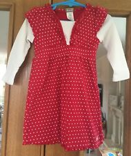 Baby Girls Roots Red Polka Dot Dress Size 12-18 Months