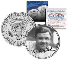 "Babe Ruth ""Portrait"" JFK Kennedy Half Dollar US Coin *Officially Licensed*"