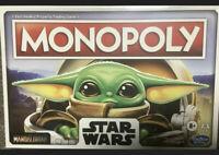 STAR WARS Monopoly The Mandalorian - Baby Yoda 2020 Factory Sealed Fast Ship