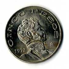 Moneda Mejico Mexico 1972 5 pesos Estados Unidos Mexicanos coins