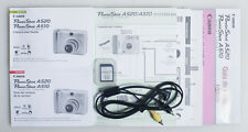 CANON POWERSHOT A520/A510 USER GUIDE WITH SYNC CORD AND MEDIA CARD