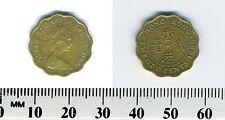 Hong Kong 1980 - 20 Cents Nickel-Brass Coin - Queen Elizabeth II - Scalloped