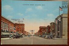 Postcard of Ludington Street in Escanaba, Michigan