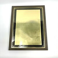 Vintage 1970's Modern Op Art Gold Foil Abstract Wall Art/Art Deco Glass Wall