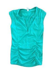 ATHLETA Green PACIFICA Cap Sleeve UPF 50+ Rashguard Shirt Beach Swim Run XS
