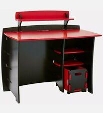Legaré Furniture Children's Desk with Shelves & File Cart Set, Red & Black New