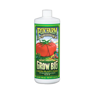 Fox Farm Grow Big Soil 1 Quart 32 oz - Nutrient Fertilizer Liquid Plant Food