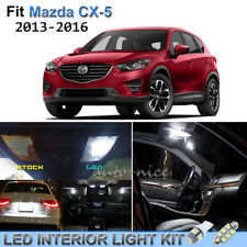 9pcs Bright White Interior LED Lights Package Kit For 2013-2016 Mazda CX-5