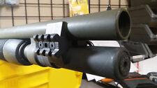 Shotgun magazine tube extension clamp & rail for Mossberg 590A1