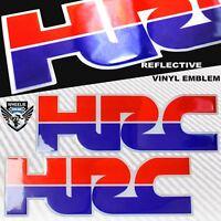 2X 3D GEL DECAL EMBLEM HRC LOGO FUEL TANK/FENDER STICKER FOR HONDA RACING TEAM