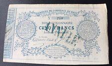 Bon Divisionnaire Cinq Francs ,Le Mans ,1871