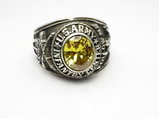 STERLING SILVER RING , USAR , INFANTRY CENTER , FOLLOW ME  , US SIZE 12.5 , id53