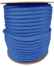 """ANCHOR ROPE DOCK LINE 1/2"""" X 250' DOUBLE BRAIDED 100% NYLON ROYAL MADE IN USA"""