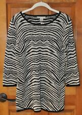 Women's Sweater Gray and Black by Kikit Size Large New with tag