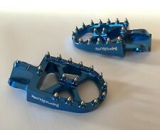BETA RR 250 300 350 450 480 SHERCO SE BLUE WIDE BILLET FOOT PEGS WITH SPRINGS