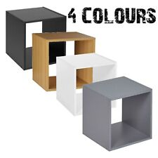 1 Tier Cube Bookcase Display Shelving Storage Unit Wooden Furniture Wall Shelf