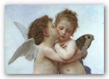 CHILDRENS POSTER First Kiss detail William Bouguereau