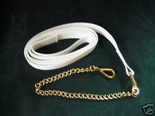 White Wide Web Heavy Chain Lead Extra Control Welsh Cob Large Strong Heavy Horse